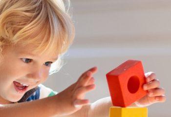 Preschool child playing
